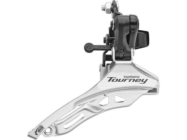 Shimano Tourney FD-TY300 Umwerfer Schelle hoch 3x6-/7-fach Down Pull schwarz/silber